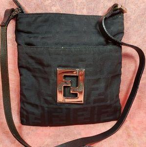 Authentic Fendi FF Monogram Crossbody Bag